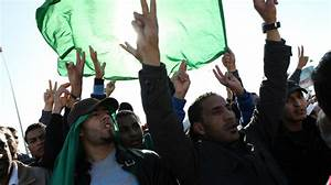 Gadhafi Supporters Rally Amid Rubble At Tripoli Base