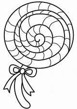Lollipop Coloring Candy Lolly Pop Clipart Colouring Template Chocolate Sweet Factory Templates Ice Cream Printable Sheets Drawing Swirl Lady Cupcakes sketch template