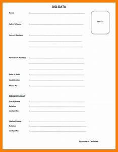3+ bio data form for job emt resume