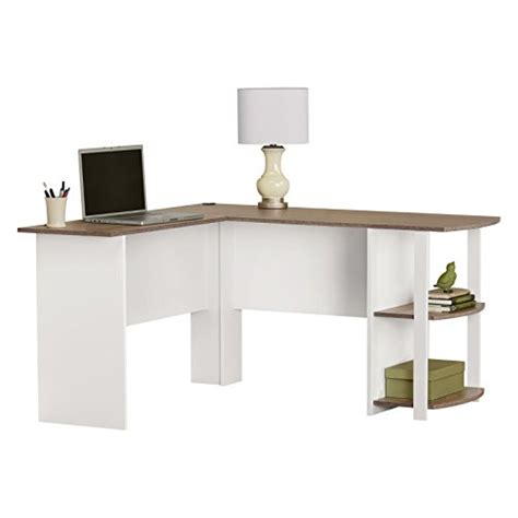 altra dakota l shaped desk with bookshelves