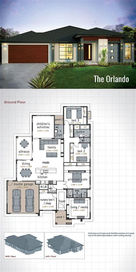 single storey house design  orlando  generous size