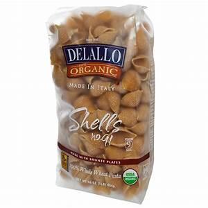 DeLallo, Shells No. 91, 100% Organic Whole Wheat Pasta, 16 ...