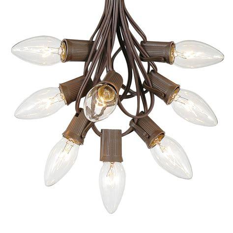 brown wire lights c9 brown wire light string sets novelty lights inc