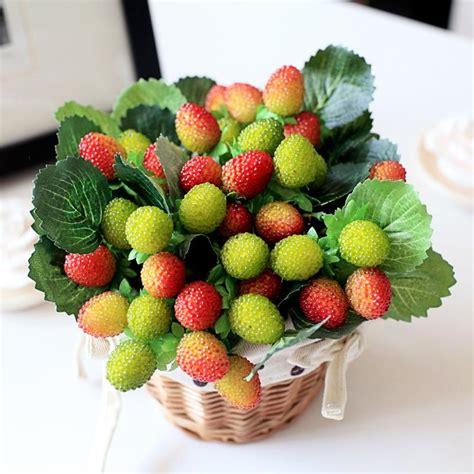 fruit flower decoration aliexpress com buy 9 small fruit decoration flower artificial fruit paddle strawberry photo