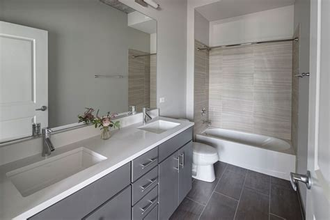 gray master bathroom ideas modern master bathroom with corian counters drop in Gray Master Bathroom Ideas