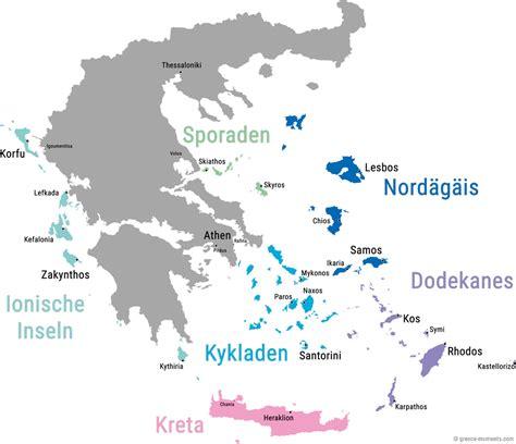 maps griechische inseln