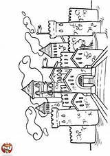 Tfou Ausmalbilder Kleurplaten Daina Castillos Ridders Château Mandalas Ciudades Stempels Castelo Nouveaux Digi Magnolias Ritterburg Lovag Rajzok Kasteel Cartão Figuras sketch template
