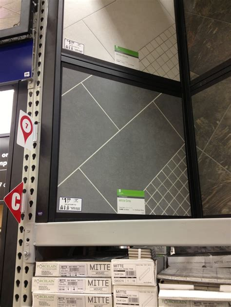 Mitte Gray Tile Grout Color by Style Selections 12 In X 24 In Mitte Gray Glazed Porcelain