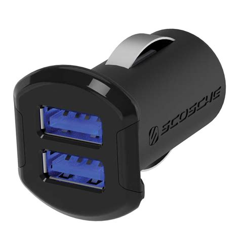 Dual Usb Car Charger by Scosche Revolt Dual Usb Car Charger Usbc242m B H Photo