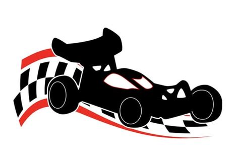 Pencil And In Color Racer Clipart