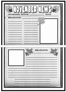 Newspaper article template for students printable for Free printable newspaper template for students