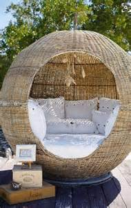 Rattan Ball Seating Area