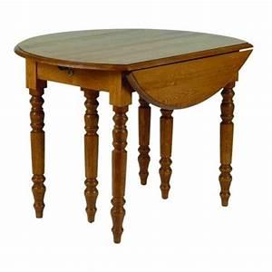Table Bois Metal Avec Rallonge : table de cuisine ronde en bois avec rallonges cercy ~ Melissatoandfro.com Idées de Décoration