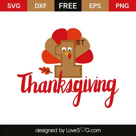 Download now to use this design in your personal projects. 1st thanksgiving | Lovesvg.com