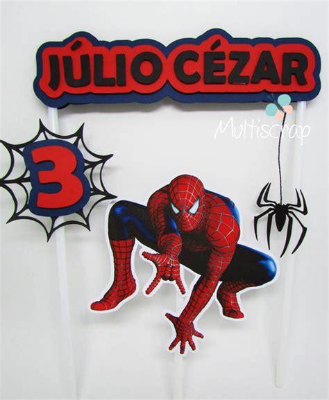 topo de bolo homem aranha no elo7 multiscrap papelaria criativa ad0656