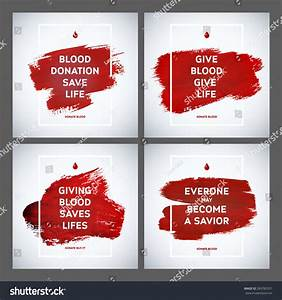 Creative Blood Donor Day Motivation Information Stock ...