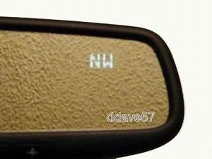 201214 Camry Gentex Hidden Display Homelink Compass