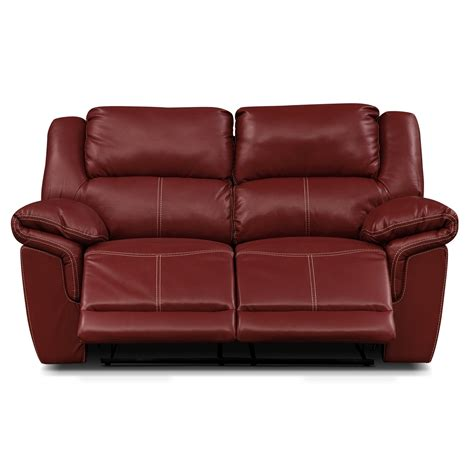 Dual Recliner Loveseat by Jaguar Ii Leather Dual Reclining Loveseat Value City