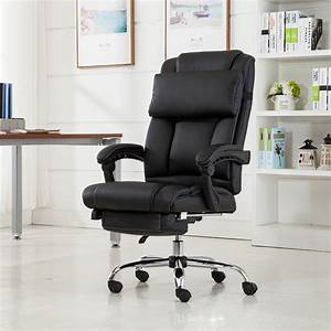 Belleze, Executive, Reclining, Office, Chair, High, Back, Faux, Leather, Footrest, Armchair, Recline, W