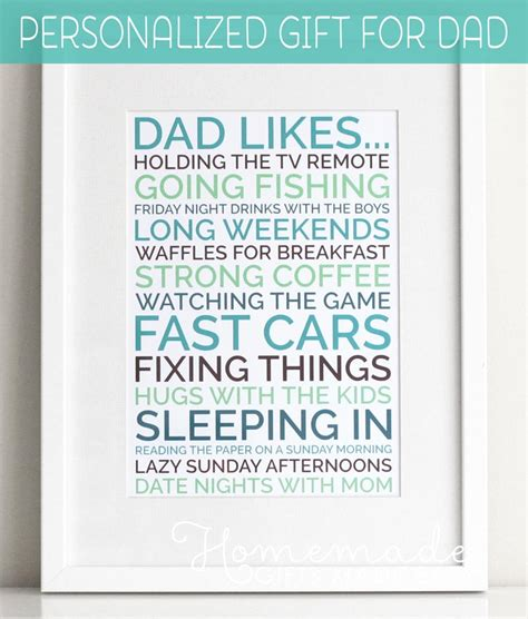 diy eye chart personalized fathers day gift