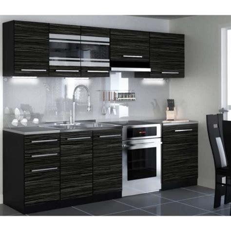 cuisine noir pas cher achat cuisine équipée pas cher cuisine en image
