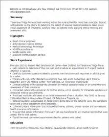triage description for resume professional telephone triage templates to showcase your talent myperfectresume