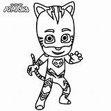 Catboy Pjmasks Coloring Pages Printable Categories Cartoon sketch template