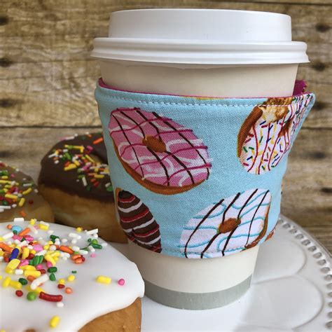All invitations & paper centerpieces cake toppers. Donuts! fabric coffee travel cup sleeve