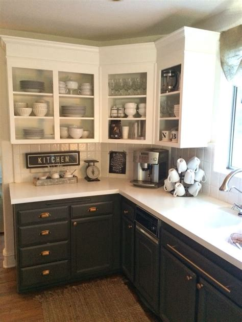 simply white upper cabinets urbane bronze lowers