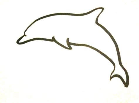 easy dolphin drawings