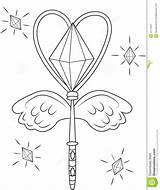 Wand Coloring Magic Template Templates Dreamstime Pages Sketch Illustration sketch template