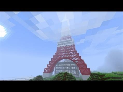 minecraft tokyo tower  youtube