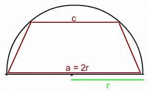 Fg Berechnen : extremwertaufgabe extremwertaufgabe einen halbkreis vom radius r ist das tapez gr ten ~ Themetempest.com Abrechnung