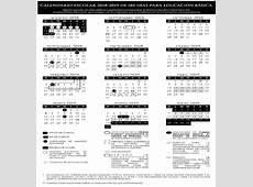 Calendarios escolares 20182019 SEP Colección SÍaEducación