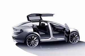 Tesla Porte Papillon : tesla model x 7 places 400 km d 39 autonomie et des portes faucon l 39 arri re ~ Nature-et-papiers.com Idées de Décoration