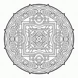 Coloring Geometric Pages Geometry Sacred Cool Mandala Fractal Therapy Complex Colouring Adult Para Mandalas Books Beaver Colorear Pattern Sheets Printable sketch template