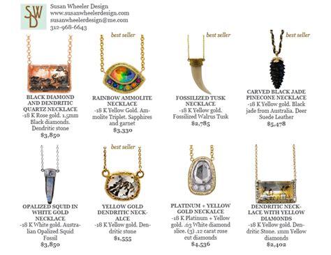 susan wheeler design jewelry line sheet eric juarez