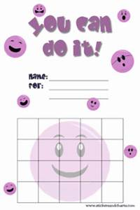 Smiley Face Reward Charts For Kids Emoji Backgrounds And