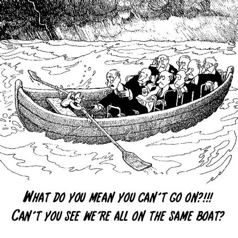 Management Boat Cartoon by Same Boat Spirit Of 1913