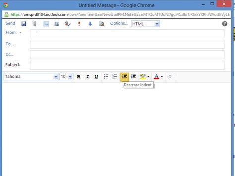 send  piece  html  outlook web access web