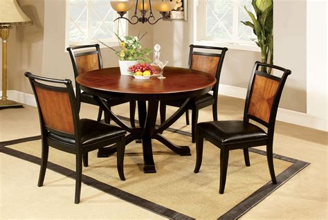 two tone kitchen table furniture of america loritha 5 two tone dining
