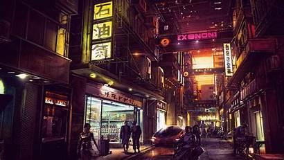 Cyberpunk Futuristic 4k Night Digital Future Artwork