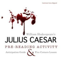 julius caesar pre reading worksheets julius caesar pre reading informal debate activity common