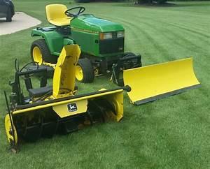 Lawn Tractor John Deere 425 W   54 U0026quot  Mower  54 U0026quot  Snow   Dirt