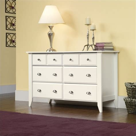 Sauder Shoal Creek Dresser Soft White sauder shoal creek dresser in soft white finish 437756