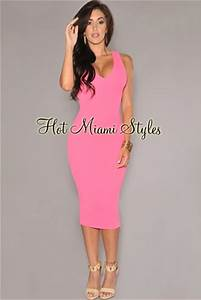 Neon Pink Textured Cut Out Midi Dress