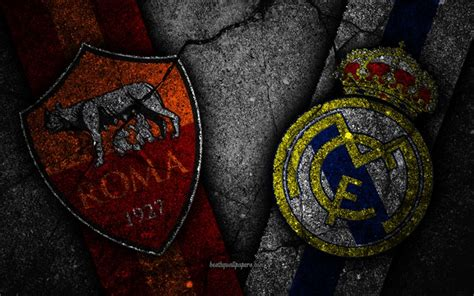 Download wallpapers Roma vs Real Madrid, Champions League ...