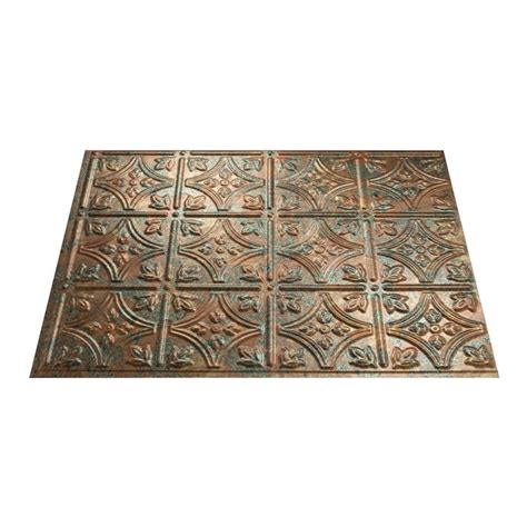 thermoplastic panels kitchen backsplash shop fasade 24 1 2 in copper thermoplastic 6095