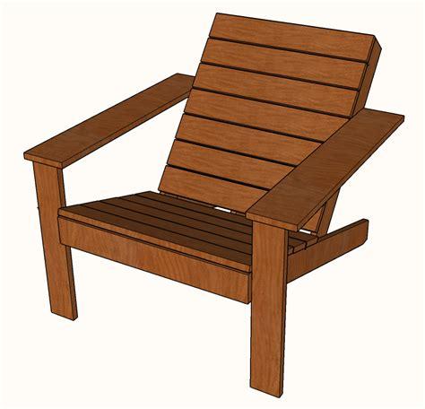 Free Diy Modern Adirondack Chair Plans » Famous Artisan