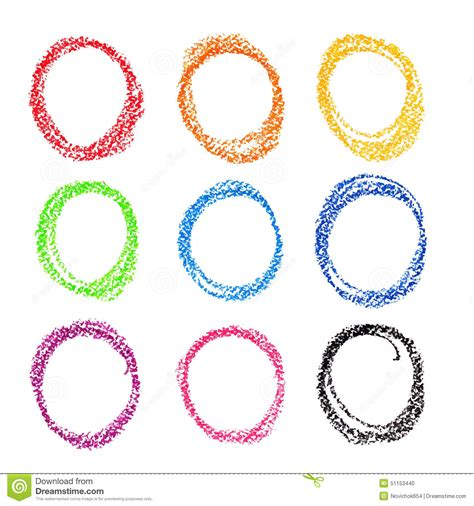 crayon set 4 in 1 crayon circle set colorful pastel stock vector